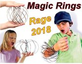 Magic Rings | Flow Rings | 3D Flow Ring | Rage 2018 - Kleur: Zilver