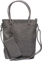 Zebra Trends Natural Bag Kartel croco dark grey