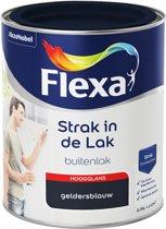 Flexa Strak In De Lak Hoogglans - Geldersblauw - 0,75 liter