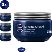 NIVEA MEN Styling Cream - Gel - 3 x 150 ml