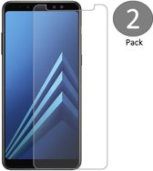 2 Pack Screenprotector voor Samsung Galaxy A8 (2018) Tempered Glass Glazen Screen Protector (2.5D 9H)