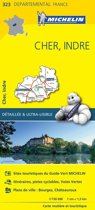 Cher / indre 11323 carte ' local ' ( France ) michelin kaart
