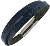 Leren Naam Armband - te personaliseren met een tekst naar keuze!
