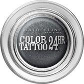 Maybelline Eye Studio Color Tatto 55 Immortal Charcoal oogschaduw Zwart Shimmer
