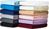 Silky Jersey - Zachte Jersey Hoeslakens 100% Katoen - 90x200x30  Jeans Blau