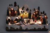Kerstdorp groot met rijdende trein B