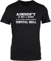 Airsoft is not a hobby T-shirt zwart