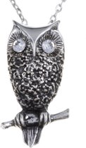 Ketting Owl Crystal clear crystal