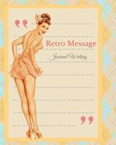 Retro Message Journal Writing