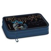 Batman - Etui - 2 vakken - 19 cm - Blauw