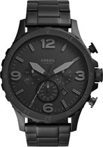 Fossil JR1401 - Horloge - Staal - Zwart - Ø 50 mm
