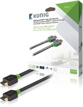 König High Speed HDMI-kabel met Ethernet HDMI-connector - HDMI-connector 10,0 m grijs