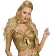 Goud glitter topje voor dames