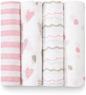Aden + Anais Swaddle 4-pack Heartbreaker Classic