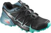 Salomon Speedcross Vario 2 Trailschoen Dames  Hardloopschoenen - Maat 40 - Vrouwen - zwart/blauw/groen