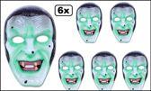 6x Masker transparant zombie vampier