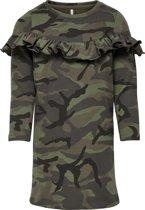 KIDS ONLY Meisjes Jurk - Camo Army Print - Maat 146/152