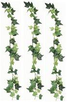 3x Luxe klimop kunstplant slingers 180 cm - Hedera kunstplanten/nepplanten
