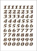 Herma 4193 Etiket met getallen 0-9 8mm Goud