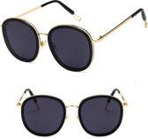 Lusso Spessore – Goud Zwart Zonnebril - Hoge Kwaliteit Metaal