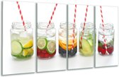 Glas schilderij Keuken, Drinken | Wit, Rood, Groen | 160x80cm 4Luik | Foto print op Glas |  F007103