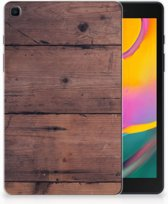 Samsung Galaxy Tab A 8.0 (2019) Silicone Tablet Hoes Old Wood