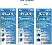 Oral-B Super Floss - 3 x 50 stuks - Flosdraad - Voordeelverpakking