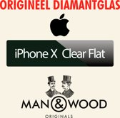 Man & Wood - iPhone X - Clear Flat Diamantglas® Screen Protector