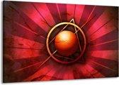 Canvas schilderij Abstract | Rood, Geel | 140x90cm 1Luik