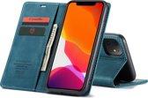 CASEME Wallet Hoesje voor Apple iPhone 11 - Blauw