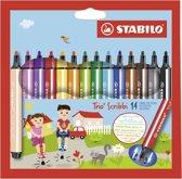 STABILO Trio Scribbi Viltstiften - Etui 14 Kleuren