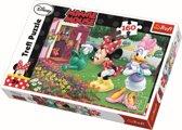 De bloemen water geven / Minnie Mouse, 160 stukjes Puzzel