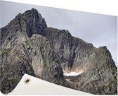Bergtop Tuinposter 120x80 cm - Tuindoek / Buitencanvas / Schilderijen voor buiten (tuin decoratie)