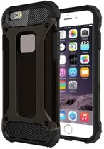iPhone 6(S) (4,7 inch) - hoes, cover, case - TPU + PC - Extra bescherming - Zwart