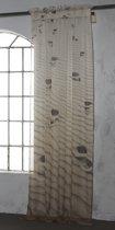 ByTzum Kant en klaar vitrage Hiekka Col 14 140x270 Sand