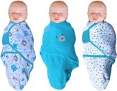 B-Wrap Bear 3-Pack Blue Small