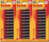 Kodak AAA Batterijen Extra Heavy Duty Goede kwaliteit Batterijen - Mini Penlite - 30 Stuks