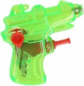 Mini waterpistool groen 7 cm