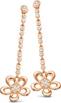 Velini jewels -EA6464R -Oorbellen -925 Zilver rosé -Cubic Zirkonia
