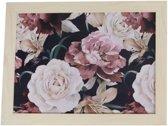 Schootdienblad - schootkussen-  Laptray bloemen