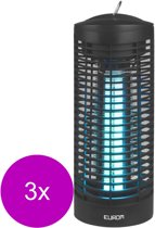 Eurom Fly Away Vliegenlamp Oval - Insectenbestrijding - 3 x Zwart Electrisch
