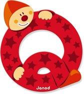 Janod Clown Letter - letter Q