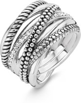 TI SENTO Milano Ring 12066ZI - Maat 52 (16,5 mm) - Gerhodineerd Sterling Zilver