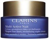 MULTI BUNDEL 2 stuks Clarins Multi-Active Light Night Cream Normal To Combination Skin 50ml