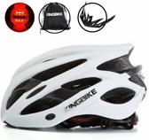 KW® Fietshelm Wit met ingebouwde verlichting | Smart Helm LED verlichting | Verstelbaar M/L (56-60 cm) | Wielren / Mountainbike Helm