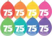 Ballonnen- 75 jaar - 8 st div kleuren