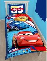 Disney Cars Lightning McQueen dekbedovertrek - eenpersoons maat en 1 kussensloop