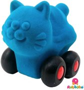Rubbabu - Micro Aniwheelie Cat (Turquoise)