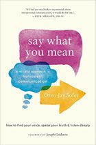 Boek cover Say What You Mean van Oren J. Sofer