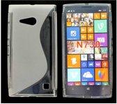 Image of Nokia Lumia 730 Dual Sim Silicon Hoesje - S-Line White (8719321207464)